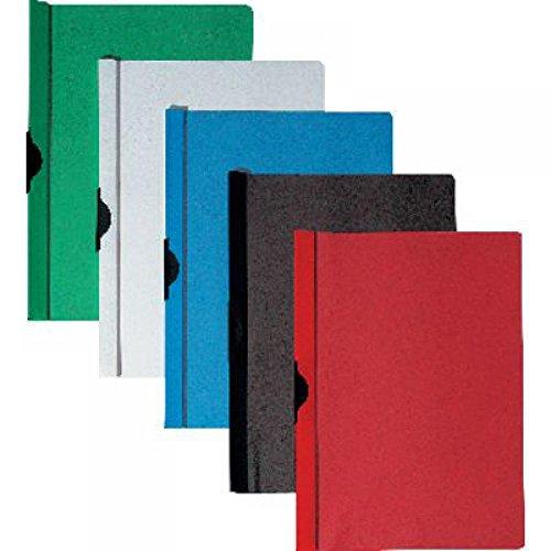 5 Star 356432 - Pack de 25 dossier clip PVC A4, capacidad 60 hojas, color rojo