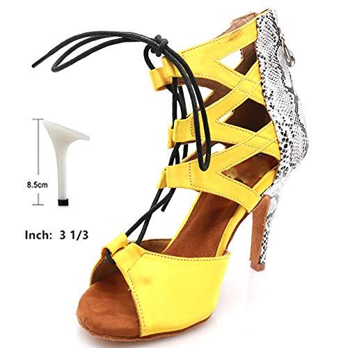HOAPL Ballroom Party Latin Jazz Dans Laarzen voor Vrouwen Latin Dance Schoenen Vrouwelijke Volwassen Hoge Hak 6-10cm Dames Sneakers Dans Schoen
