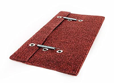 Camco Wrap Around Step Rug- Protects Your RV from Unwanted Tracked in Dirt, Works on Electrical and Manual RV Steps - Extra Large (Brown) (42931)