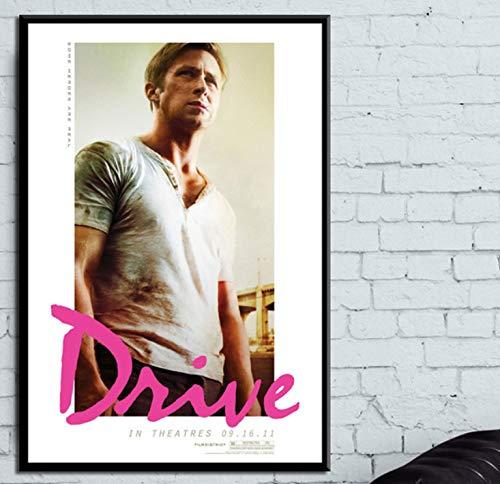 YOUCAIHUA Plakate und Drucke Drive Classic Film Ryan Gosling Poster Wandbild Leinwand Malerei Inneneinrichtung 40 * 60cm ohne Rahmen