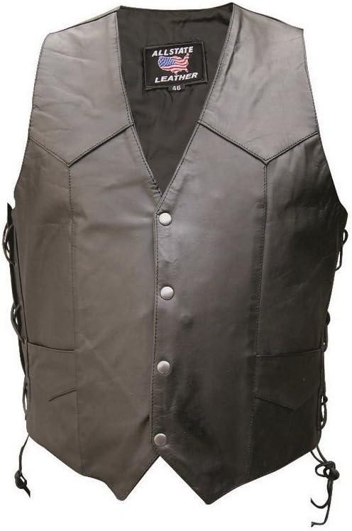 Men's AL2207 Basic Side Laced vest 5X-Large Black