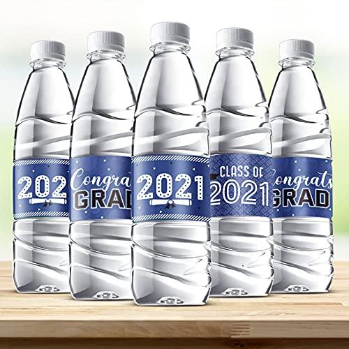 39 Decoraciones de Graduación 2021 Etiquetas de Botellas de Agua Pegatinas de Congrats...