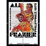Doppelganger33 LTD Advert Boxing Thrilla in Manila Ali Frazier Fight Philippines Wall Art Multi Panel Poster Print 33x47 inches