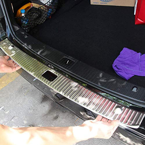Acier Inoxydable 304 Intérieur Protecteur de Pare-Chocs Arrière Tronc Garde Plaques de seuil Plaques de recouvrement Garniture Argent pour Classe E W212 2010-2015