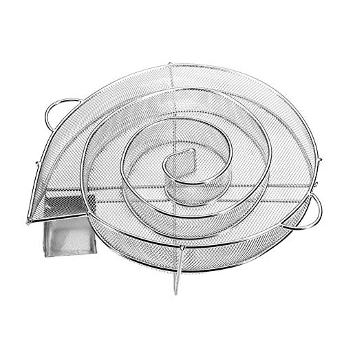 BEAUTYBIGBANG Kaltrauchgenerator Rund Rauchgenerator Edelstahl Kaltrauch Kaltraucherzeuger Kaltrauchgenerator Cold Smoke Generator für BBQ Kugelgrill Smoker und Räucherofen (Mehrweg)
