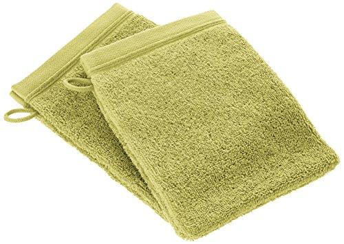 BLANC CERISE 600259 Lot de 2 Gants de Toilette Coton Anis