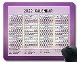 Calendario 2022 año Mouse Pad, Línea de luz Multicolor Personalizado Mouse Pad