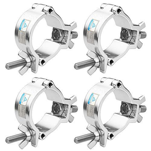 TSSS 4 Stück Alulegierung Haken Traversen 50mm Durchmesser Last tragen 100 Kilogramm / 220 Pfund für Par Scheinwerfer Bühnenbeleuchtung Moving Head Licht Lampe Zubehör