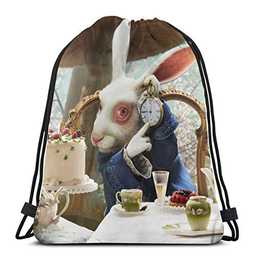 Alicia en el país de las maravillas, mochila para estudiantes, unisex, diseño de dibujos animados, 36 x 43 cm