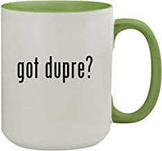 got dupre? - 15oz Ceramic Inner & Handle Colored Coffee Mug, Light Green