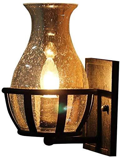 Retro rústico pared aplique de la luz, con una clara Granados florero de cristal de la lámpara, sombra for el pórtico de iluminación, Jardín Calle Villa Puerta decorativa lámpara de pared