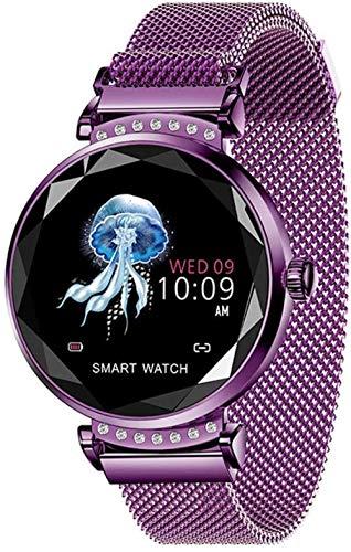 TYUI Reloj inteligente con recordatorio de llamadas deportivo podómetro ritmo cardíaco presión arterial SmartWatch pulsera aplicable a Android 4.4 iOS 8.0 compatible con Bluetooth 4.0-D