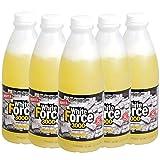 White Force 3000 Albume d'Uovo liquido, Si Conserva a Temperatura Ambiente - 6 Bottiglie da 1 kg