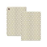 iPad Pro 11 ケース 2020 金と白、図形のような正方形の星の幾何学的なGirihパターンオンブルアートプリント装飾、黄色と白 金と白 軽量 TPU レザー スマート 耐衝撃 傷防止 クリア ハード スタンド オートスリープ ウェイクアップ 機能 黄色と白