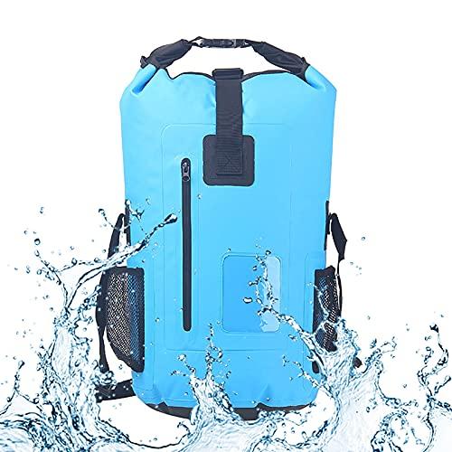 YYFGJCC Alpinismo All'aperto Immersioni Nuoto Zaino Impermeabile PVC,Borsa Impermeabile di Grande capacità 30L Borsa da Rafting Borsa da Nuoto per Appassionati di Outdoor,Viaggi E Gite,LightBlue