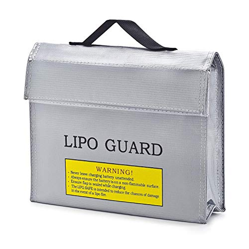 Fireproof LiPo Battery Bag RC Toy Drone Battery Safe Bag, LiPo Battery Storage Bag, 240 x 64 x 180 mm