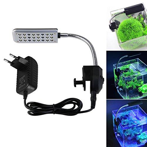 LEDMOMO Aquarium Beleuchtung mit Clip Fisch Tank LED Leuchte Lampe 3 Arbeitsmodi