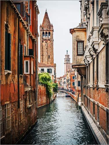 Posterlounge Acrylglasbild 60 x 80 cm: Venedig - Rio di San Barnaba von Alexander Voss - Wandbild, Acryl Glasbild, Druck auf Acryl Glas Bild