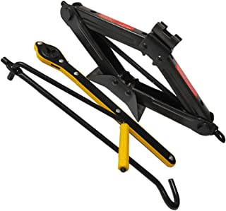 Wakauto Cabeça giratória de carro dobrável, ferramenta basculante para carro, cabo dobrável, tesoura basculante