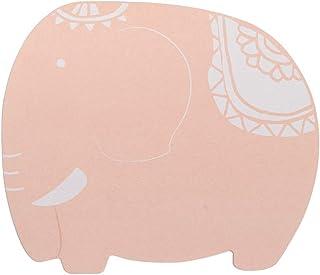 象の珪藻土 バスマット 風呂マット 足ふきマット 消臭 速乾 防カビ 防ダニ 抗菌 約45cm×39cm(ピンク)