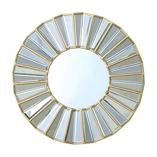 Household Necessities/wandspiegel grote spiegel badkamerspiegel met rond frame, voor slaapkamer, woonkamer, veranda, wanddecoratie, make-up spiegel 70CM/27.5INCHES Goud