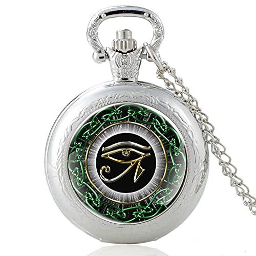 TUDUDU Plata Clásico El Ojo De Horus Diseño Cabujón De Cristal Reloj...