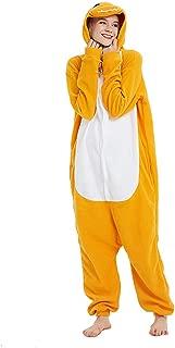 Soft Cartoon Pajamas, Adults Men Women Pyjamas Onesie Orange Charmander Cartoon Animal Cosplay Sleep Suit Costume Lightweight