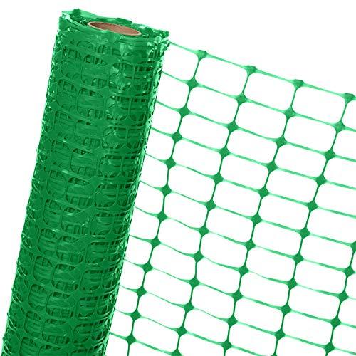 HaGa® Absperrzaun 1,2m x 25m - Bauzaun Zaun mit 120g/m² - Baustellenzaun Kunststoffzaun Gartenzaun in grün