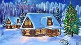 YUBYUB Puzzle 1000 Piezas Puzzle Rompecabezas para Adultos Kit de Bricolaje de Madera Decoración Moderna para el hogar Juguete casa Piel árbol nieve/75 * 50 CM