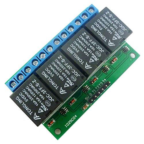 Hihey 5 V relaismodule 4 kanaals DC 5 V relaismodule of flip flop latch relais bistabile, zelfblokkerende low pulse trigger module