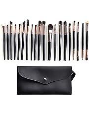 Set di 20 pennelli da trucco, pennello sintetico di alta qualità, che può essere utilizzato per cipria, fard, ombretto e eyeliner (custodia in PU)