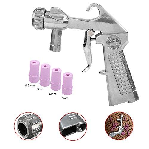 Pistola de Chorro de Arena con Kit de Boquillas de Cerámica 4 piezas