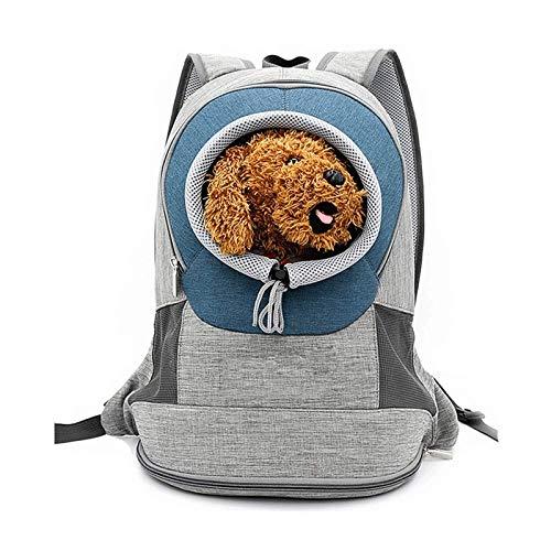 ZLSP Mochila for Bolsa de Mascotas, Bolsa de Transporte for Mascotas con Doble Hombro Transpirable for Cachorros, Bolsa for Mascotas de Viaje al Aire Libre (M)