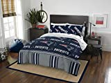 Oficially Licensed NFL New England Patriots Full Bed in a Bag Set, 78' x 86'