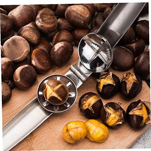 Aisoway 2 in 1 Chestnut Clip Edelstahl-Walnuss-Zangen Sheller Nuss-Öffner Küchenwerkzeuge Cutter Gadgets