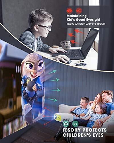 Tesoky YG280 Proyector para Movil, Proyector Portatil Compatible con USB/HDMI/DC/AV, Soporta Full HD y 23 Idiomas, Mini… 3