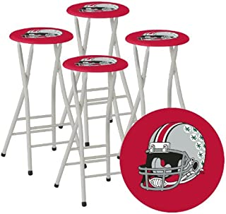 Best of Times Collegiate Bar Stools, Ohio State, Set of 4