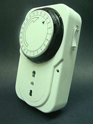 prodigital Timer 24 Ore PROGRAMMABILE Presa ANALOGICA Spina TEMPORIZZATA Orologio TEMPORIZZATORE MOD. Compact = Dim.Ridotti e qualità Migliorata