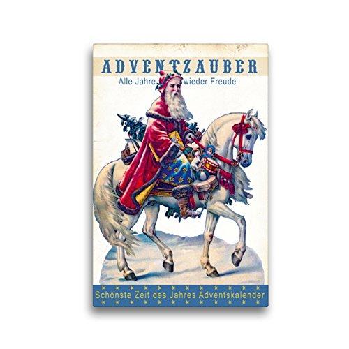 Calendario de Adviento con Texto en alemán Schönste Zeit Des Jahres, 30 x 45 cm