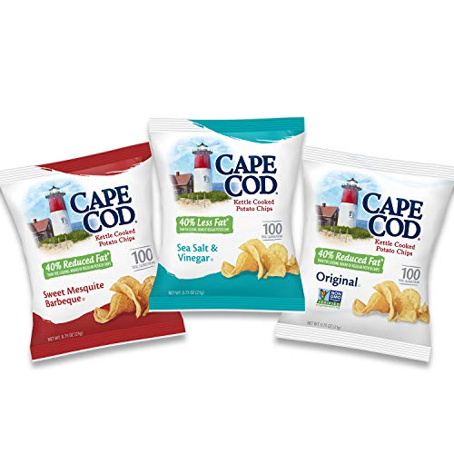 Cape Cod Potato Chips, Reduced Fat Kettle Chips, Variety Pack, 30 Count