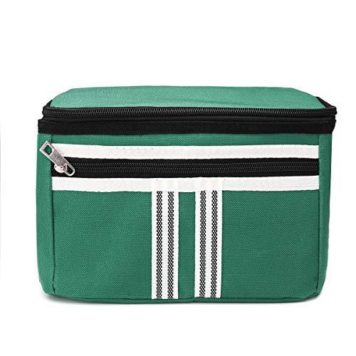Gymy Picknicktasche, 5 l, Thermo-Kühltasche, isoliert, Lebensmittelbehälter, Tasche für Outdoor, Camping (Farbe: Grün)