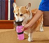 028410 Bouteille d'eau portable pour animaux de compagnie SQUEAZY 0.5 lt velcro - Rose