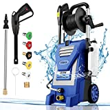 Pressure Washer mrliance 3800PSI Electric Pressure Washer 2000W Power Washer 3.0 GPM High Power Washer Surface Cleaner Machine with Hose Reel & Detergent Tank & 5 Nozzles (Blue)