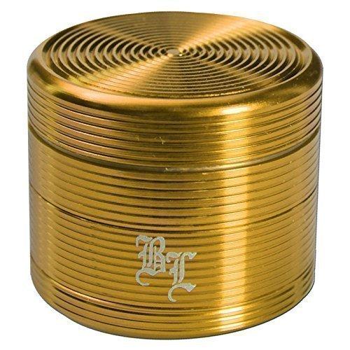 Black Leaf Groove macinino - A34mm 4-pz D50mm con taglio di diamante - Oro - di PatchouliWorld