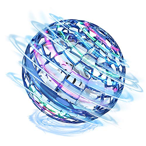 Flynova Pro Flying Ball Toys, Mini Drones For Kids Adult, RGB light Flying Toys, Flying Spinner Flying Space Orb Toy For Kids Adults Indoor Outdoor, Nebula Orb Soaring Hover Ball Magic Boomerang Ball