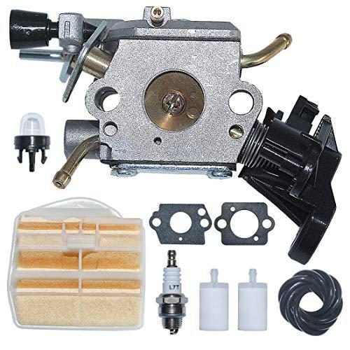 AUMEL C1M-EL37B Carburador Carb W/Filtro de Aire Línea de Combustible Kit de Potencia Fit Husqvarna 445 445E 450 450E Motosierra de Gas Reemplace 506 45 04-01.