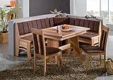 German Furniture Warehouse Bali Breakfast Nook Set, 4 Piece Light Wood Dining Set 100% Made in Europe