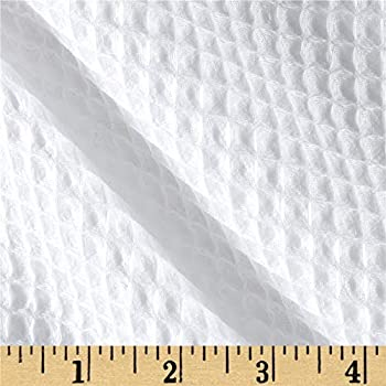 Shannon Fabrics 0457761 Shannon Waffle Terry Cloth Cuddle White Fabric by the Yard