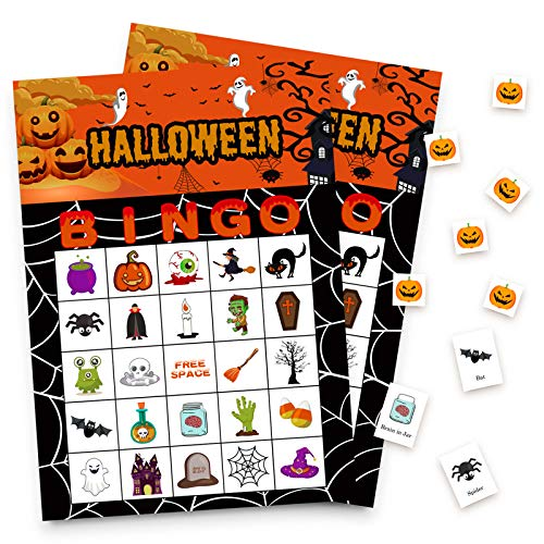 Halloween Games Bingo Cards