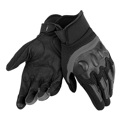 Dainese-AIR FRAME UNISEX Guantes, Negro/Negro, Talla L